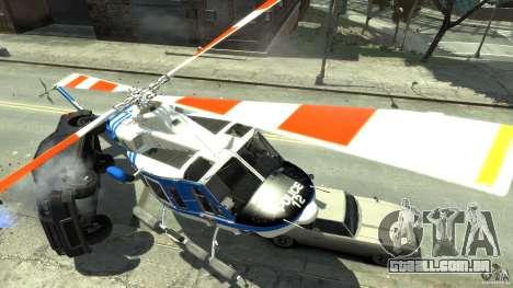 Bell412/NYPD Air Sea Rescue Helicopter para GTA 4 vista direita