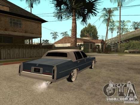 Cadillac Fleetwood Brougham 1985 para GTA San Andreas vista direita