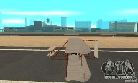 The Wright Flyer para GTA San Andreas esquerda vista