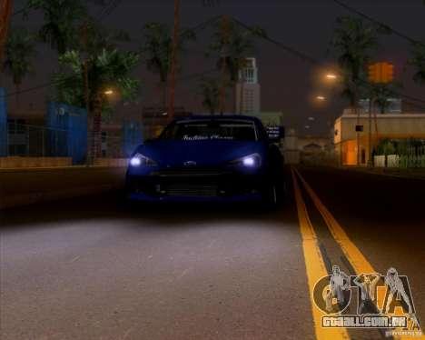 Subaru BRZ Stance para GTA San Andreas vista traseira