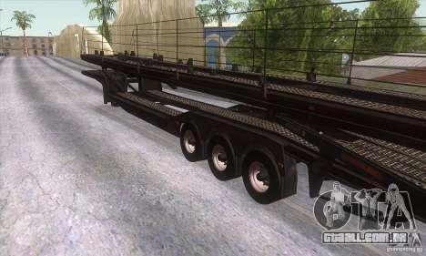O caminhão de reboque para GTA San Andreas vista direita
