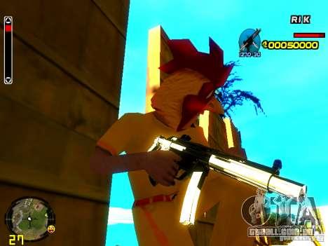 White Chrome Guns para GTA San Andreas terceira tela