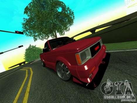 GMC Syclone Drift para GTA San Andreas vista interior