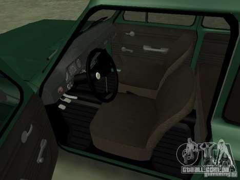 ZAZ-968 m para GTA San Andreas vista traseira