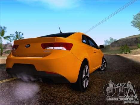 Kia Forte Koup SX para GTA San Andreas esquerda vista