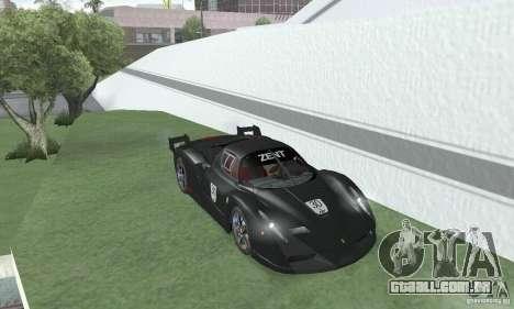 Ferrari FXX para GTA San Andreas vista traseira