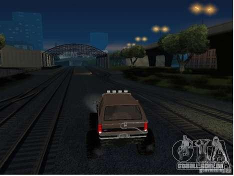 Ford Bronco IV Monster para GTA San Andreas vista traseira