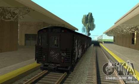 GTA IV Enterable Train para GTA San Andreas vista direita
