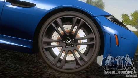 Jaguar XKR-S 2011 V1.0 para as rodas de GTA San Andreas