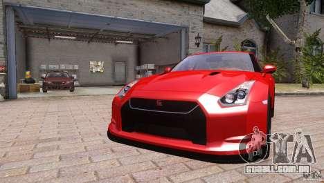 Nissan GTR R35 v1.0 para GTA 4 vista direita