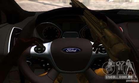 Ford Focus 3 para GTA San Andreas vista traseira