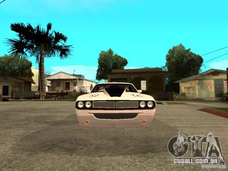 Dodge Challenger Speed 1971 para GTA San Andreas vista direita