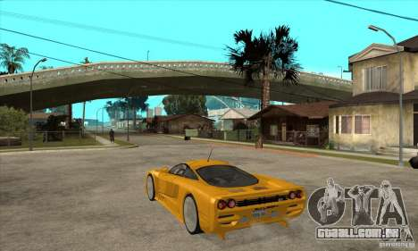 Saleen S7 Twin Turbo para GTA San Andreas traseira esquerda vista