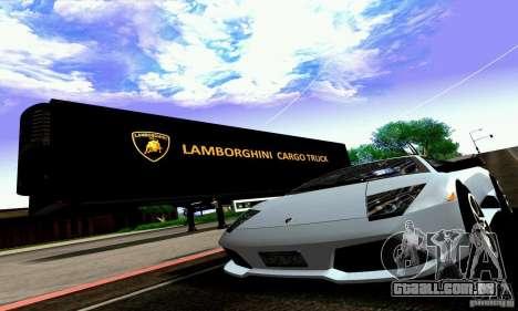 Lamborghini Cargo Truck para GTA San Andreas vista interior