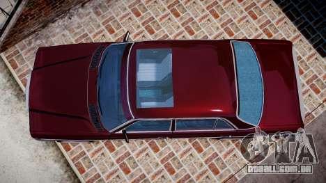Mercedes-Benz 230E 1976 Tuning para GTA 4 vista direita