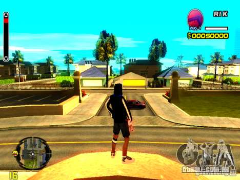 Pele vagabundo v8 para GTA San Andreas segunda tela