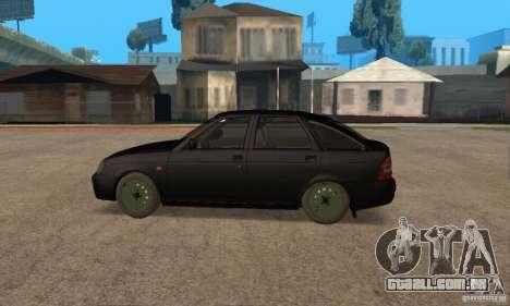 Hatchback de LADA priora 2172 para GTA San Andreas esquerda vista