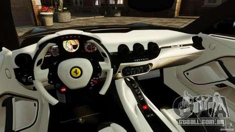 Ferrari F12 Berlinetta 2013 Stock para GTA 4 vista de volta