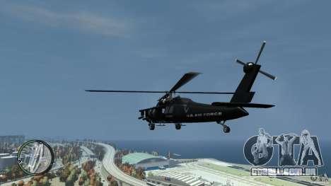 U.S. Air Force (annihilator) para GTA 4 traseira esquerda vista
