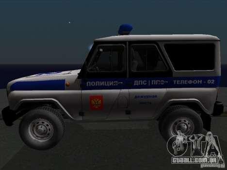 UAZ-315195 caçador de polícia para GTA San Andreas esquerda vista