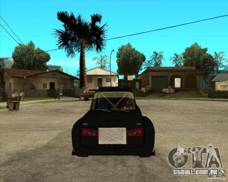 VAZ 2104 volk para GTA San Andreas vista traseira