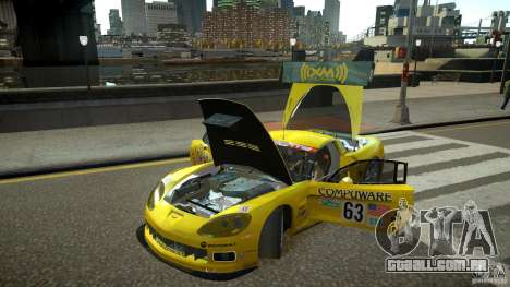 Chevrolet Corvette C6-R v2.0 para GTA 4 vista de volta