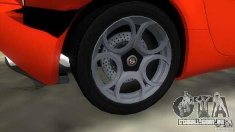 Alfa Romeo 8C Competizione para GTA Vice City vista interior