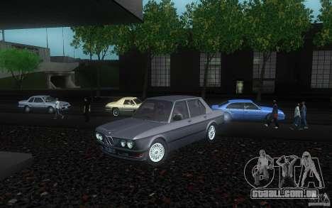 BMW E28 525e ShadowLine Stock para GTA San Andreas vista traseira