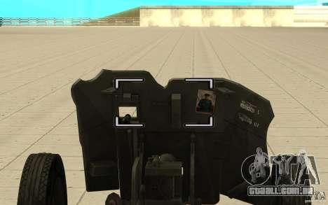 Arma de Regimento, 53-45 mm para GTA San Andreas vista direita