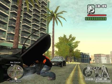 A t-shirt MIZ para GTA San Andreas terceira tela