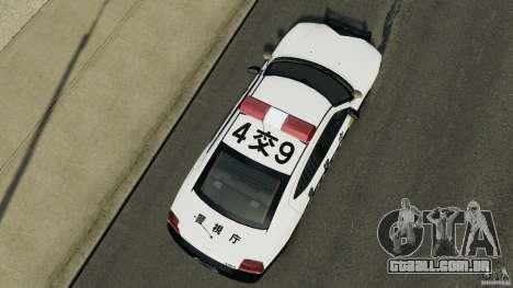 Dodge Charger Japanese Police [ELS] para GTA 4 vista direita