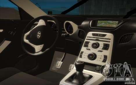 Hyundai Genesis 3.8 Coupe para vista lateral GTA San Andreas