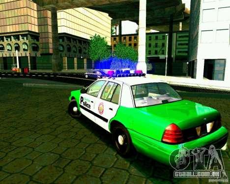 Ford Crown Victoria 2003 Police Interceptor VCPD para GTA San Andreas traseira esquerda vista
