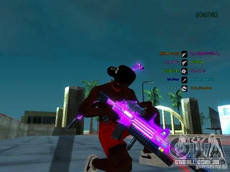 Cromo roxo em armas para GTA San Andreas quinto tela