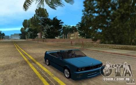 BMW M3 E30 Cabrio para GTA Vice City deixou vista