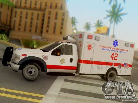 Ford F350 Super Duty Chicago Fire Department EMS para GTA San Andreas