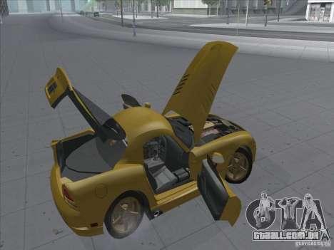 Dodge Viper SRT-10 (dourado Viper) para GTA San Andreas vista traseira