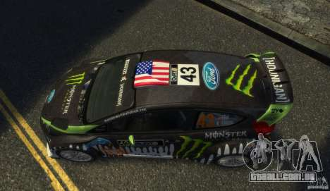 Ford Fiesta RS WRC para GTA 4 vista direita