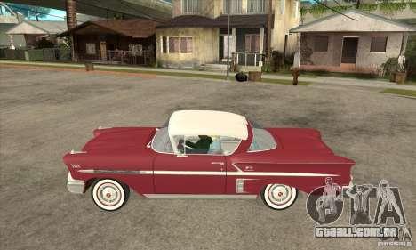 Chevrolet Impala 1958 para GTA San Andreas esquerda vista
