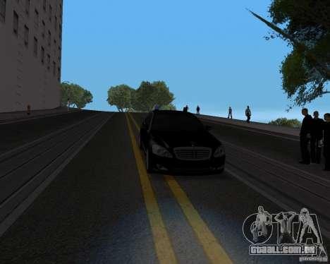 Mercedes Benz S500 w221 SE para GTA San Andreas vista traseira
