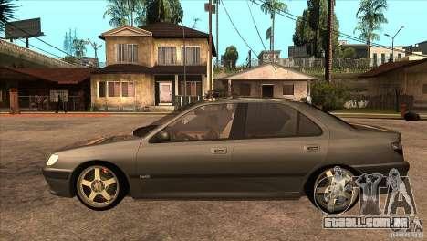 Peugeot 406 v1 para GTA San Andreas esquerda vista