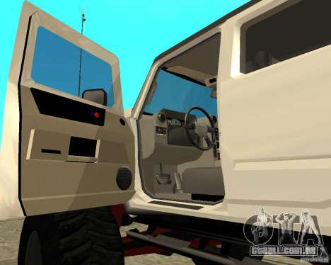 Hummer H2 MONSTER para GTA San Andreas vista traseira