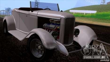 Ford Roadster 1932 para GTA San Andreas vista traseira