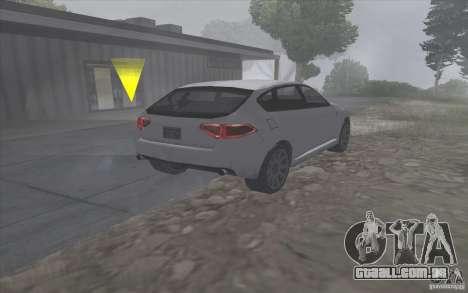 Subaru Impreza-estilo SA para GTA San Andreas traseira esquerda vista