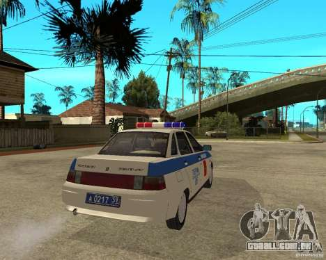 LADA 21103 DPS para GTA San Andreas traseira esquerda vista