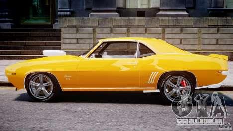 Chevrolet Camaro para GTA 4 traseira esquerda vista