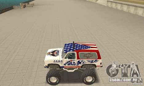 Chevrolet Blazer K5 Monster Skin 7 para GTA San Andreas