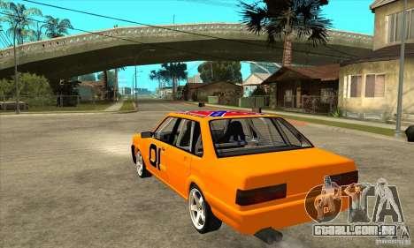 Audi 80 para GTA San Andreas traseira esquerda vista