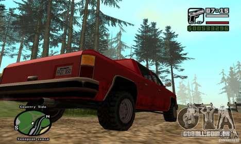 Rancher 4 Doors Pick-Up para GTA San Andreas vista direita