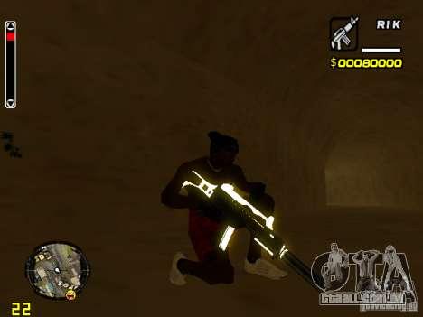 White and Black weapon pack para GTA San Andreas quinto tela